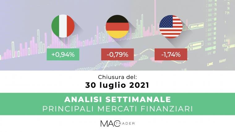 Analisi settimanale dei principali mercati finanziari alla chiusura del 30 Luglio 2021