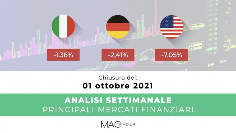 Analisi settimanale dei principali mercati finanziari alla chiusura del 01 Ottobre 2021